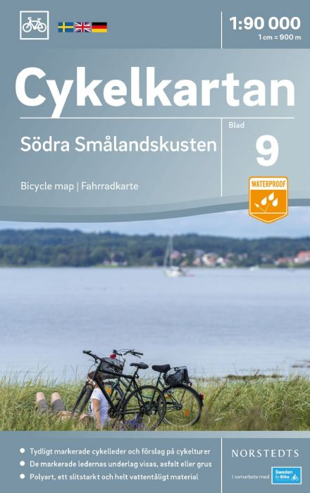 Sweden Cycling Map 09 - Smaland Coast South